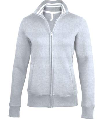 Veste molleton zippée - K457 - gris oxford - femme
