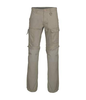 Kariban Mens Zip-off Multi-Pocket Work Trousers (Pack of 2) (Dark Beige) - UTRW6958