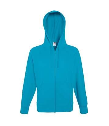 Fruit Of The Loom Mens Lightweight Full Zip Jacket / Hoodie (Azure Blue) - UTBC2655
