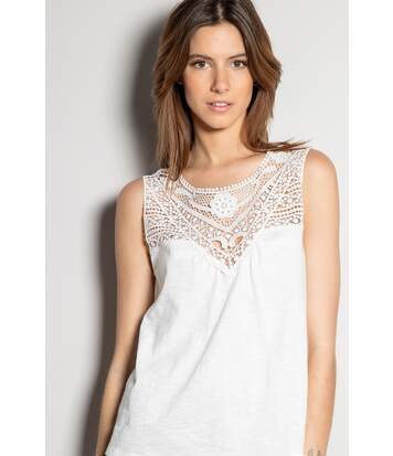 Top uni avec crochet MINA Off White