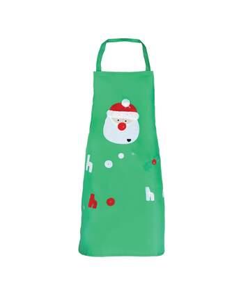 Christmas Shop - Tablier De Noël - Adulte Unisexe (Vert/Père Noël) - UTRW3397