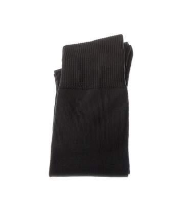 Chaussette Hautes - 1 paire - Semelle bouclette - Rugby - Epaisse - Noir