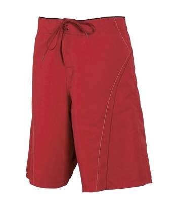 Tombo Teamsport Mens Unlined Board Shorts (Red/Black) - UTRW1547