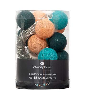 Atmosphera - Guirlande décorative Cuba 16 boules LED D 3.5 cm et L 261 cm