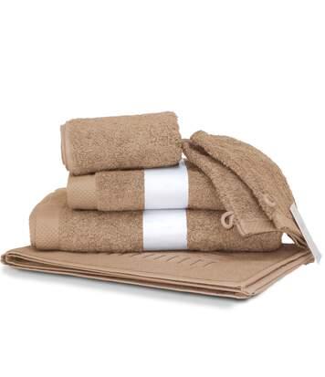 Parure de bain 6 pièces PURE Beige 550 g/m2