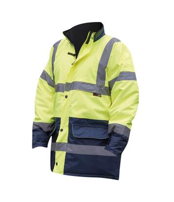 Warrior Mens Denver High Visibility Safety Jacket (Fluorescent Yellow) - UTPC274