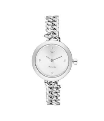 Montre Femme Kate Diamants 0,012 carats - Cadran blanc Bracelet métal argenté