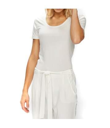 Ava Femme Tee-shirt Ecru Jacqueline de Yong