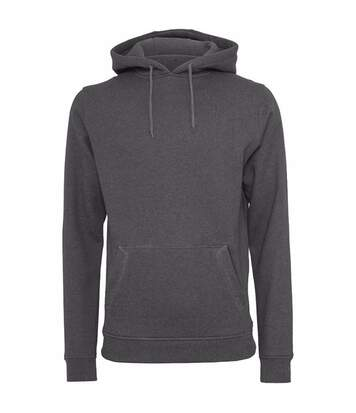 Build Your Brand Mens Heavy Pullover Hoodie (Charcoal) - UTRW5681