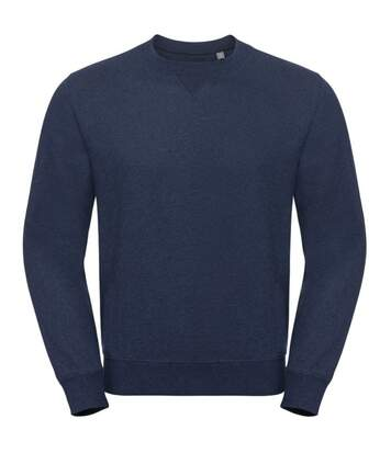 Russell Mens Authentic Melange Sweatshirt (Indigo Melange) - UTPC3634