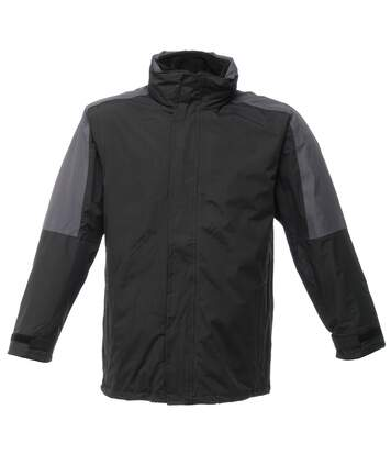 Regatta Defender III 3-in-1 Waterproof Windproof Jacket / Performance Jacket (Black/Seal Grey) - UTBC802