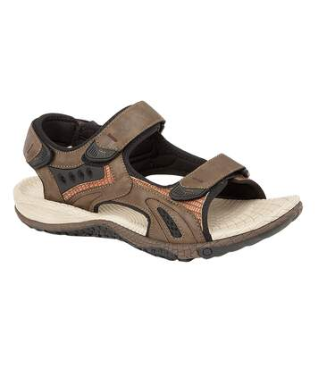 PDQ Mens Superlight Sports Sandals (Dark Brown) - UTDF1551