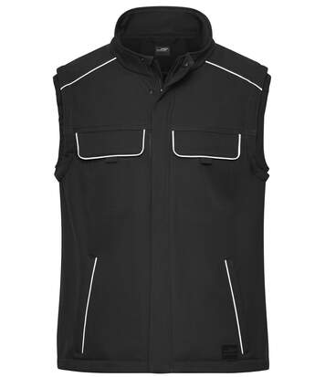 Gilet de travail bodywarmer softshell - JN883 - noir