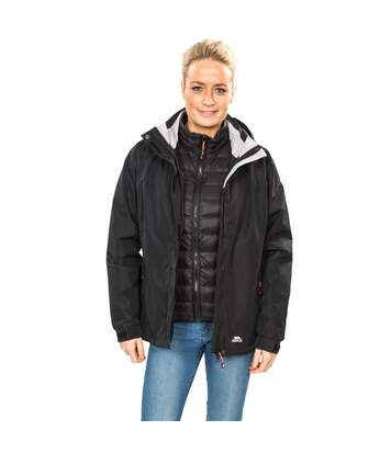 Trespass Womens/Ladies Trailwind Waterproof 3-In-1 Jacket (Black) - UTTP3520