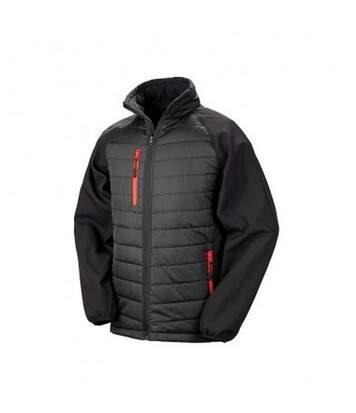 Result Mens Black Compass Padded Soft Shell Jacket (Black/Lime) - UTPC3326