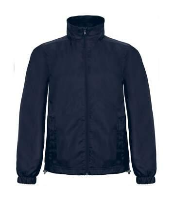 B&C Mens ID.601 Hooded Showerproof Windbreaker Jacket (Red) - UTRW3524