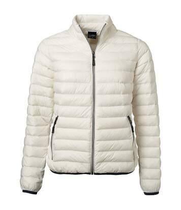 Veste doudoune matelassée duvet - JN1139 - blanc cassé - Femme