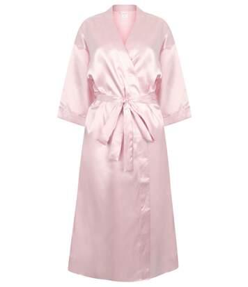 Peignoir kimono en satin - femme - TC054 - rose clair