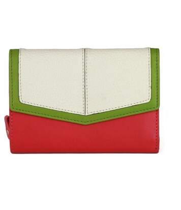 Eastern Counties Leather - Portefeuille En Forme D'enveloppe Bessie - Femme (Rose / blanc) - UTEL308