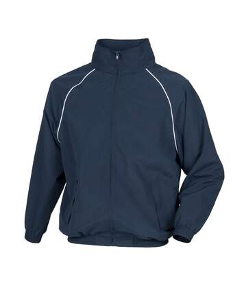 Tombo Mens Teamsport Start Line Sports Training Track Jacket (Navy/ White piping) - UTRW2875