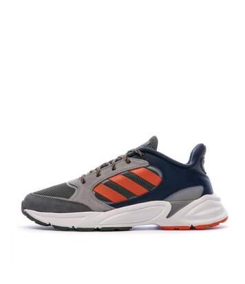 Baskets Bleues/Kakis/Oranges Homme Adidas 90s Valasion