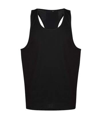 Tanx Mens Vest Sleeveless Vest Top / Muscle Vest (Black) - UTRW2869