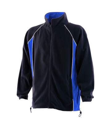 Finden & Hales Mens Piped Anti-Pill Microfleece Jacket (Navy/Royal/White) - UTRW434