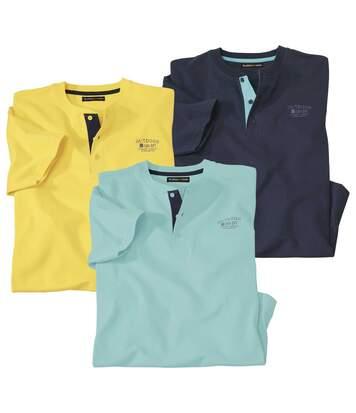 Set van 3 Fiji T-shirts met Tunesische kraag