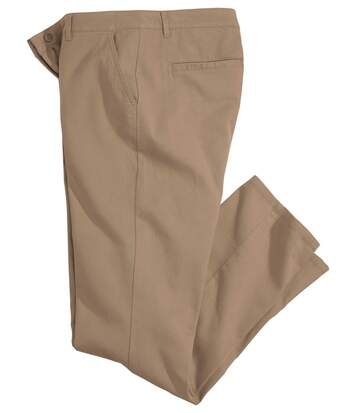 Men's Beige Stretch Chinos