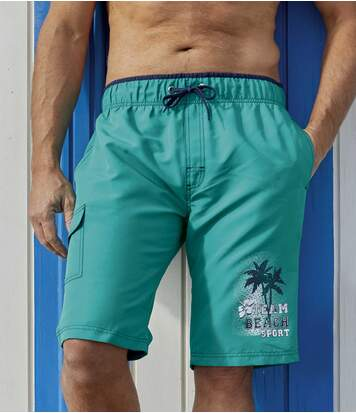 Men's Turquoise Beach Sport Swim Shorts