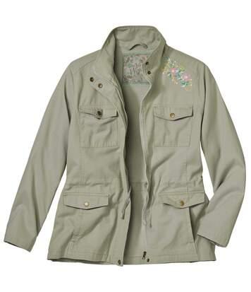Куртка-сафари с Вышивкой