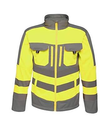 Regatta Mens Hi Vis Tactical Reflective Stretch Fleece (Yellow/Grey) - UTRG3985