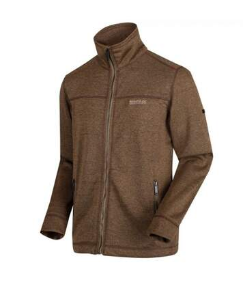 Regatta Mens Galton Heavyweight Knit Effect Fleece (Dark Camel) - UTRG4062