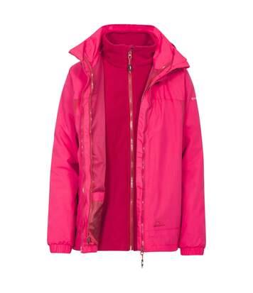 Trespass Womens/Ladies Rewarding 3 In 1 Jacket (RASPBERRY) - UTTP3703