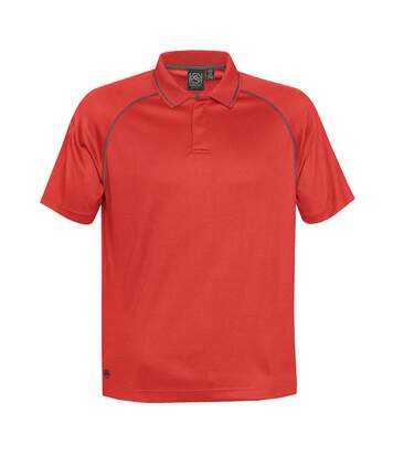Stormtech Mens Tritium Performance Polo (Bright Red/Carbon) - UTBC3878