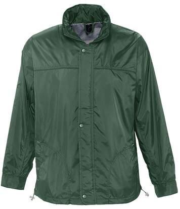 Veste coupe-vent imperméable doublé jersey - 46000 - vert forêt - mixte homme femme