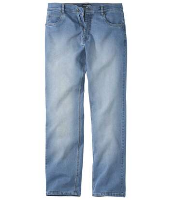 Jean Regular Stretch Bleu Délavé
