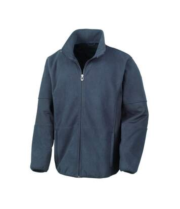 Result Mens Osaka TECH Performance Combined Pile Softshell Waterproof Windproof Jacket (Navy Blue) - UTBC867