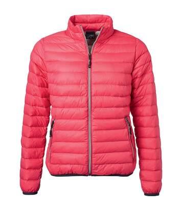 Veste doudoune matelassée duvet - JN1139 - rose magenta - Femme