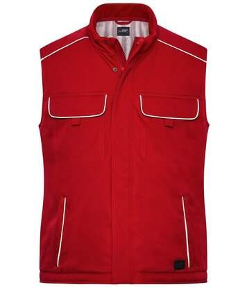 Gilet de travail rembourré softshell - JN885 - rouge