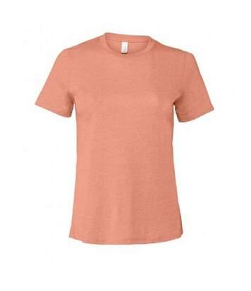 Bella - T-Shirt Jersey - Femme (Rose foncé chiné) - UTPC3876