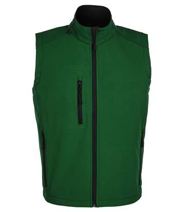 SOLS Mens Rallye Soft Shell Bodywarmer Jacket (Bottle Green) - UTPC349