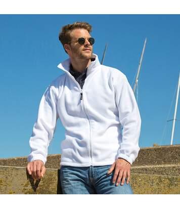 Result Mens Full Zip Active Fleece Anti Pilling Jacket (White) - UTBC922