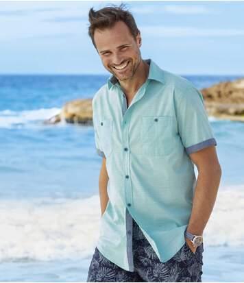 Men's Riviera Short Sleeve Shirt - Blue