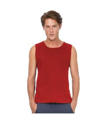 B&C Mens Move Sleeveless Athletic Sports Vest Top (Red) - UTRW3499