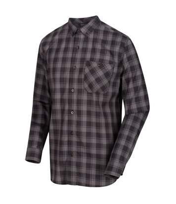 Regatta Great Outdoors Mens Lazare Long Sleeve Checked Shirt (Briar/Black) - UTRG4716