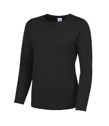 Awdis Just Cool - T-Shirt À Manches Longues - Femme (Noir) - UTRW4814