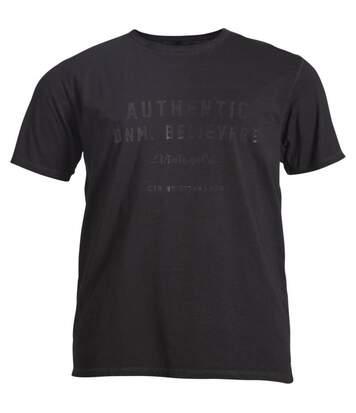 Tee shirt manches courtes noir