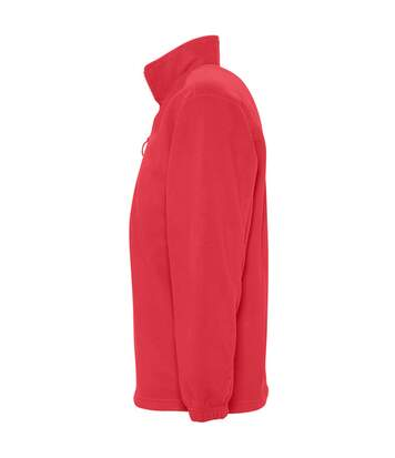 SOLS Ness Unisex Zip Neck Anti-Pill Fleece Top (Red) - UTPC345