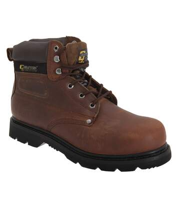 Grafters Mens Gladiator Safety Boots (Brown) - UTDF669